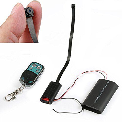 1080P Hidden Camera MINI DV DVR Motion Video Pinhole Module SPY w//Remote Control