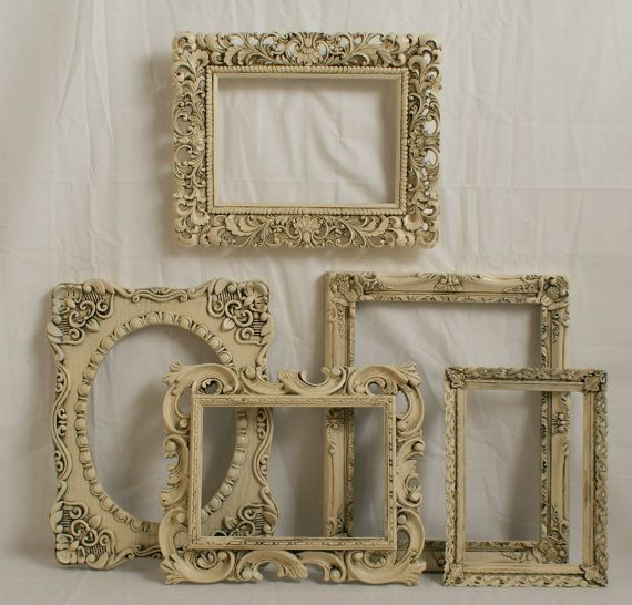 Shabby Chic Picture Frames French Romantic Ivory By Danielsvintage