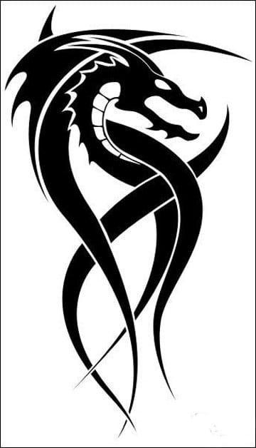 Imagenes De Tatuajes De Dragones Tribales Pequenos Tatuajes De Dragon Tribal Tatuajes De Dragon Celta Dragones Tribales