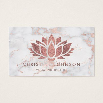 Simulated glitter rose gold lotus flower business card lotus simulated glitter rose gold lotus flower business card colourmoves