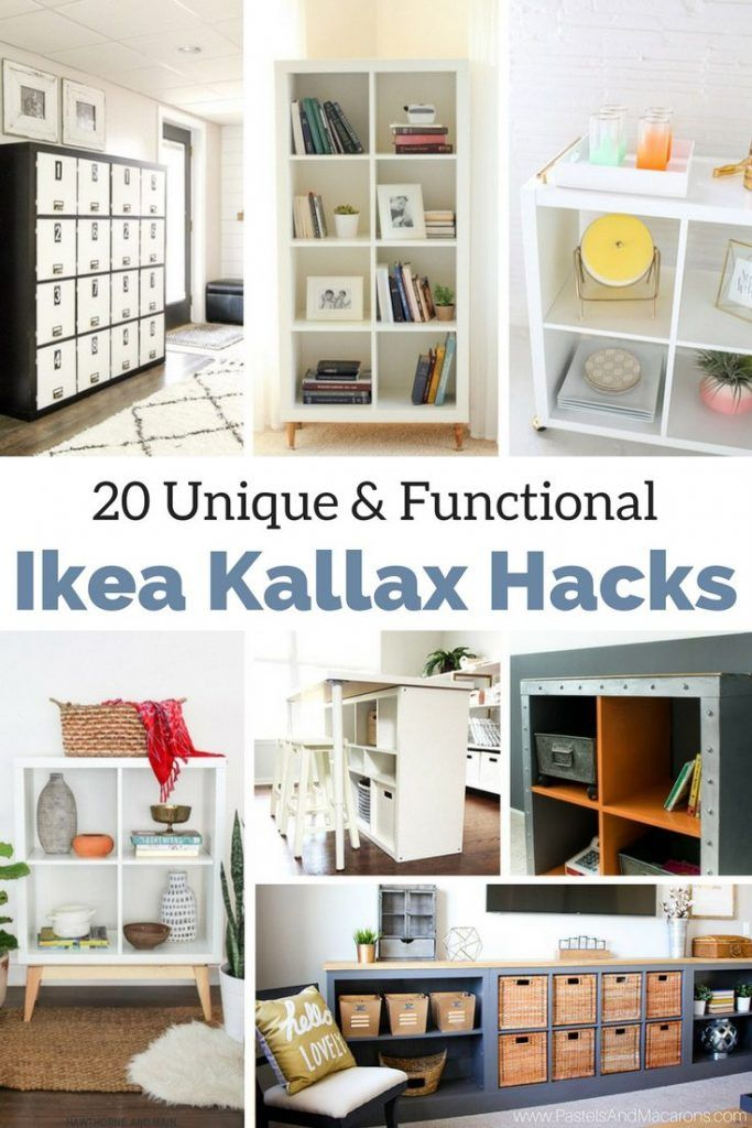 The Best Ikea Kallax Hacks And 20 Different Ways To Use Them Ikea Kallax Hack Kallax Hack And