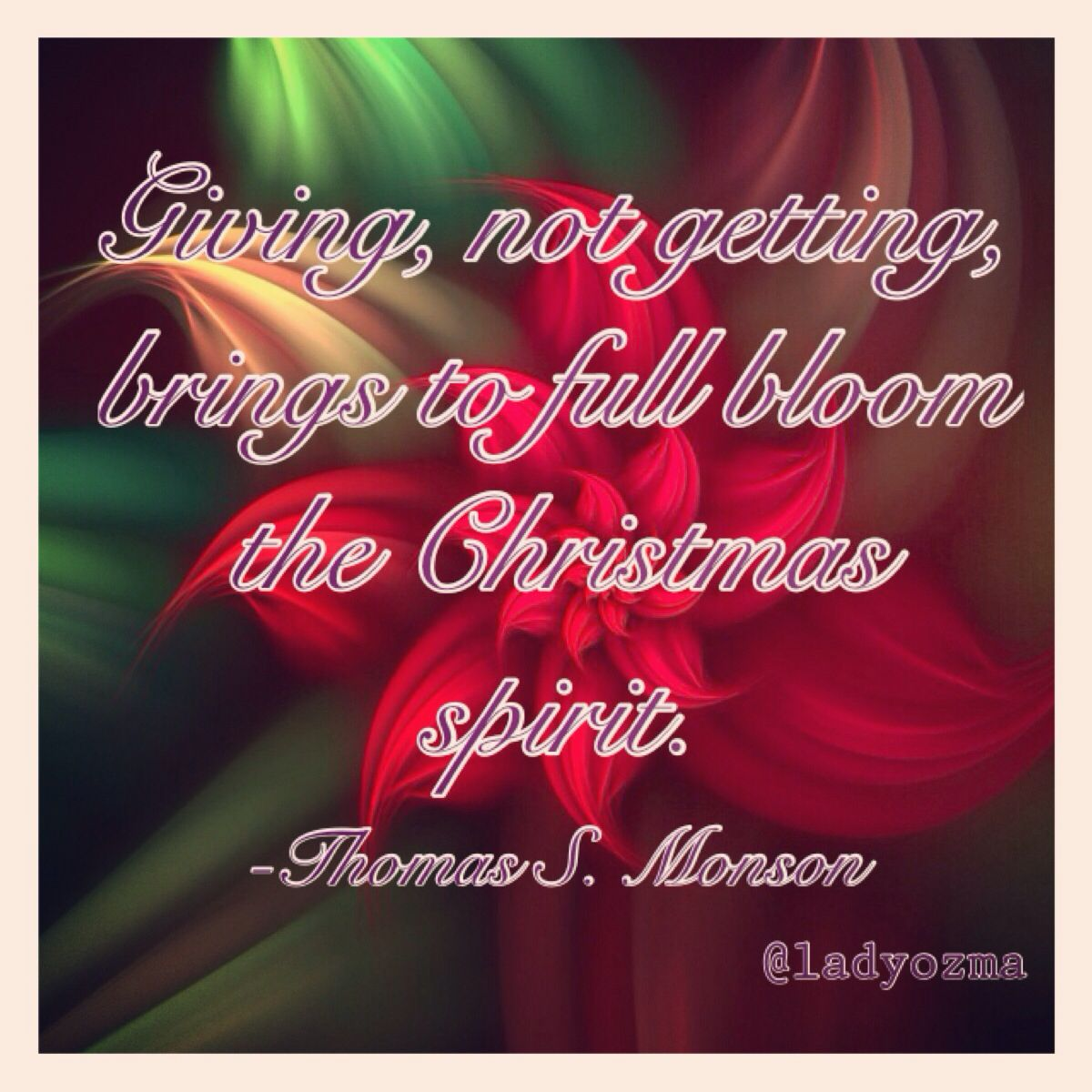 Giving, Not Getting, Brings To Full Bloom The Christmas