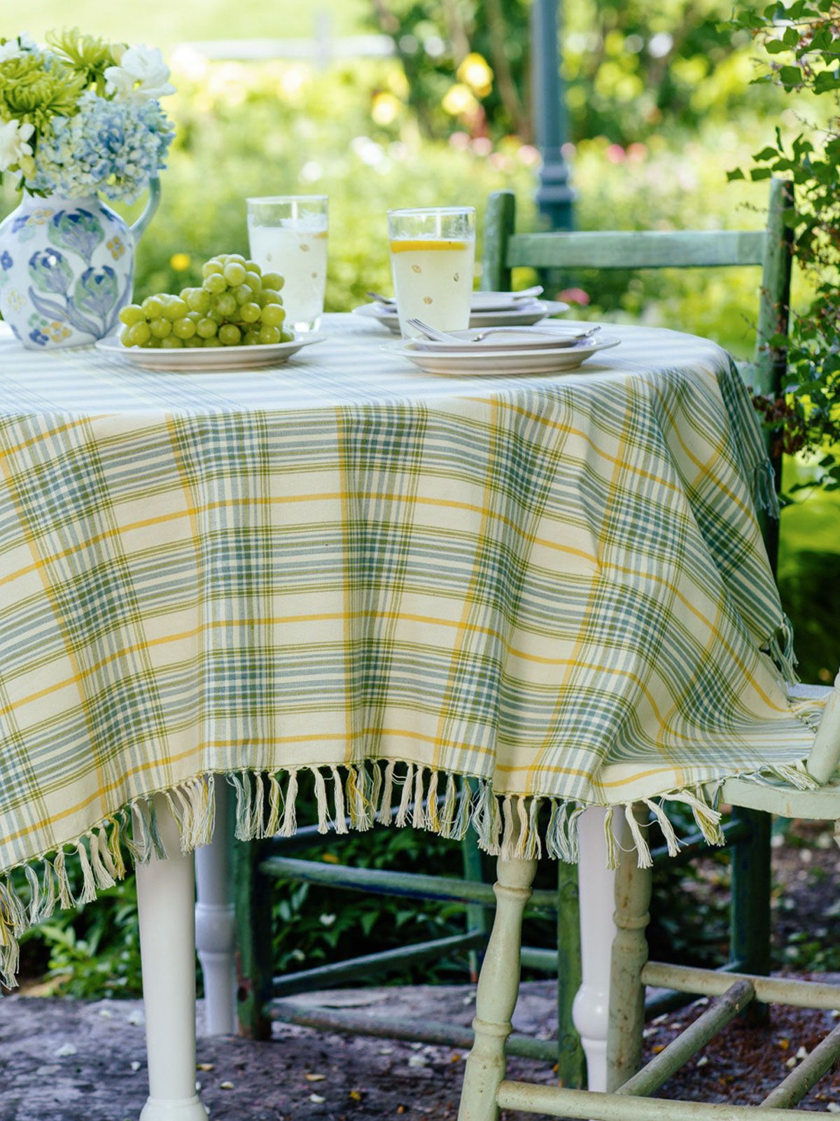 Peaceful Plaid Tablecloth | Table Linens U0026 Kitchen, Tablecloths :Beautiful  Designs By April Cornell