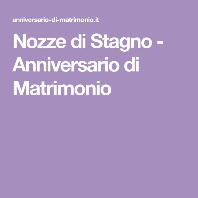 Nozze Di Stagno Anniversario Di Matrimonio Anniversario Di Matrimonio Nozze Matrimonio