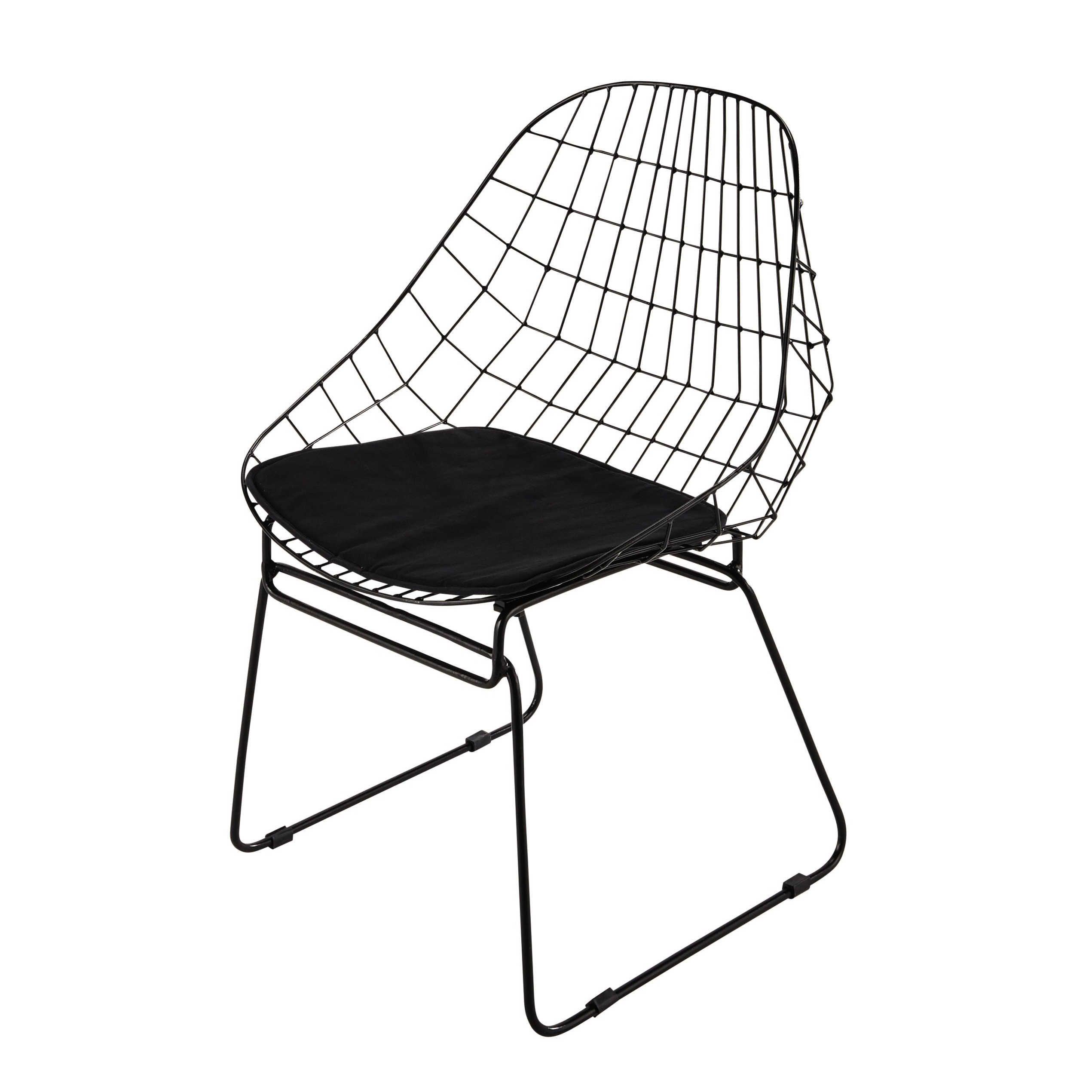 chaise en métal noire orsay | maisons du monde | salle à manger ... - Chaise Tulipe Maison Du Monde 2