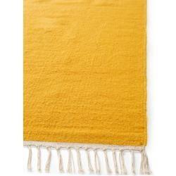 benuta Wollteppich Mala Gold 80x200 cm - Naturfaserteppich aus Wolle benuta #trendybedroom