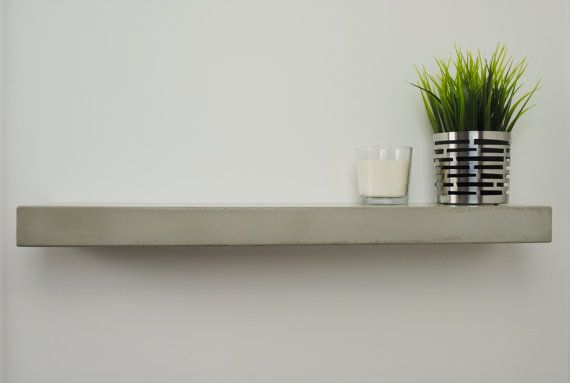 Concrete Floating Shelf Large By Fmcdesign On Etsy