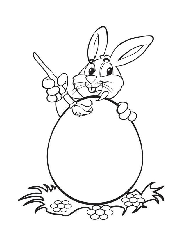 20 Printable EasterThemed Coloring Pages for Kids Bunny painting