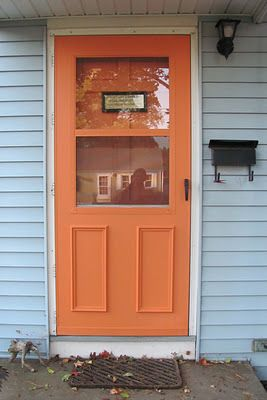 So You Can Successfully Paint Storm Doors This Is Good To Know As I Dislike Our White Ones Fall Project Painted Storm Door Painted Screen Doors Storm Door