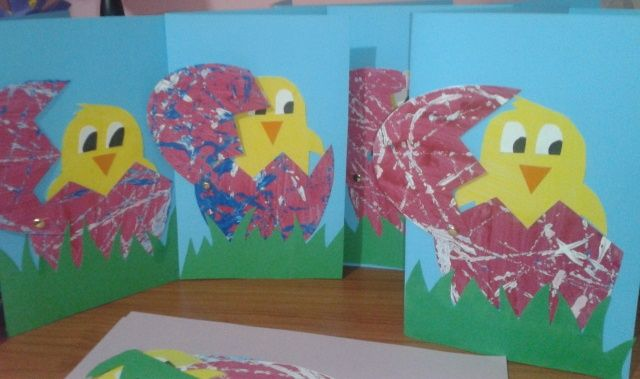 Hatching Chick Easter Card Kindergarten Kids Crafts
