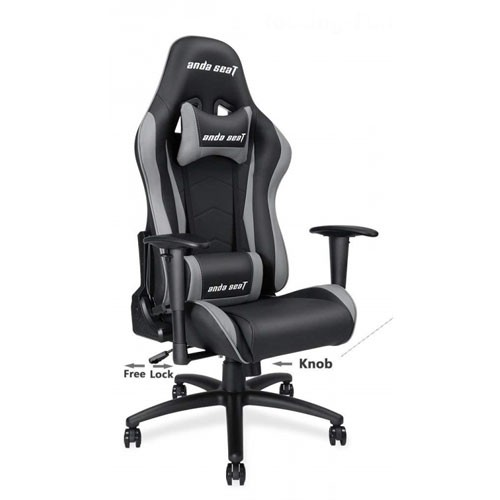 Andaseat Furniture Big And Tall Gaming Racer Chair Black Grey Grey Ad5 01 Bg Pv Computer Chair Lumbar Support Cushion Chair