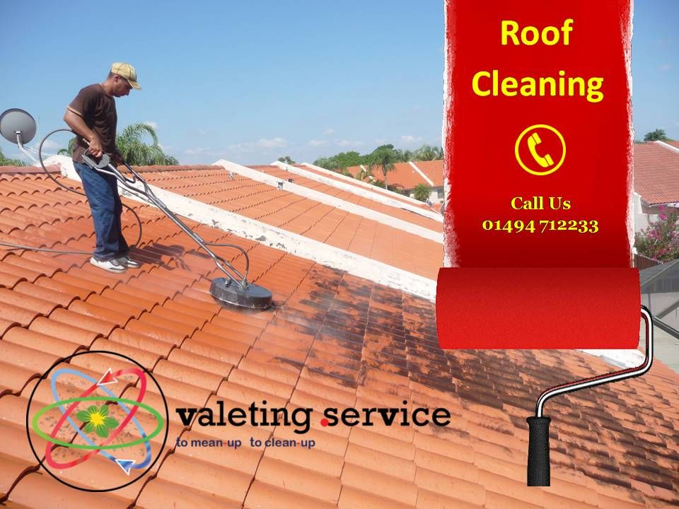 Valeting Service cleans roofs. Those black streaks are