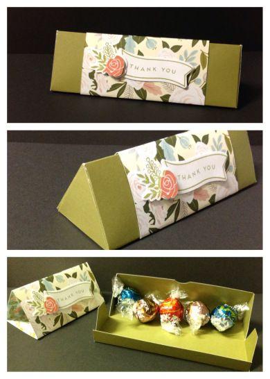 Small Triangle Box For 2 Ferrero Rocher Chocolates Paper