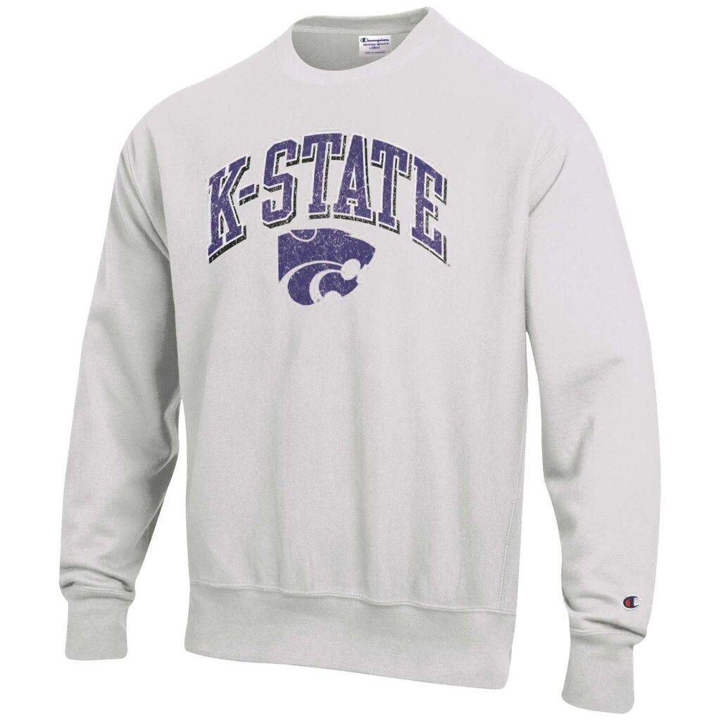 Men S Champion Gray Kansas State Wildcats Arch Over Logo Reverse Weave Pullover Sweatshirt Sweatshirts Pullover Sweatshirt State Sweatshirt [ 1024 x 1024 Pixel ]