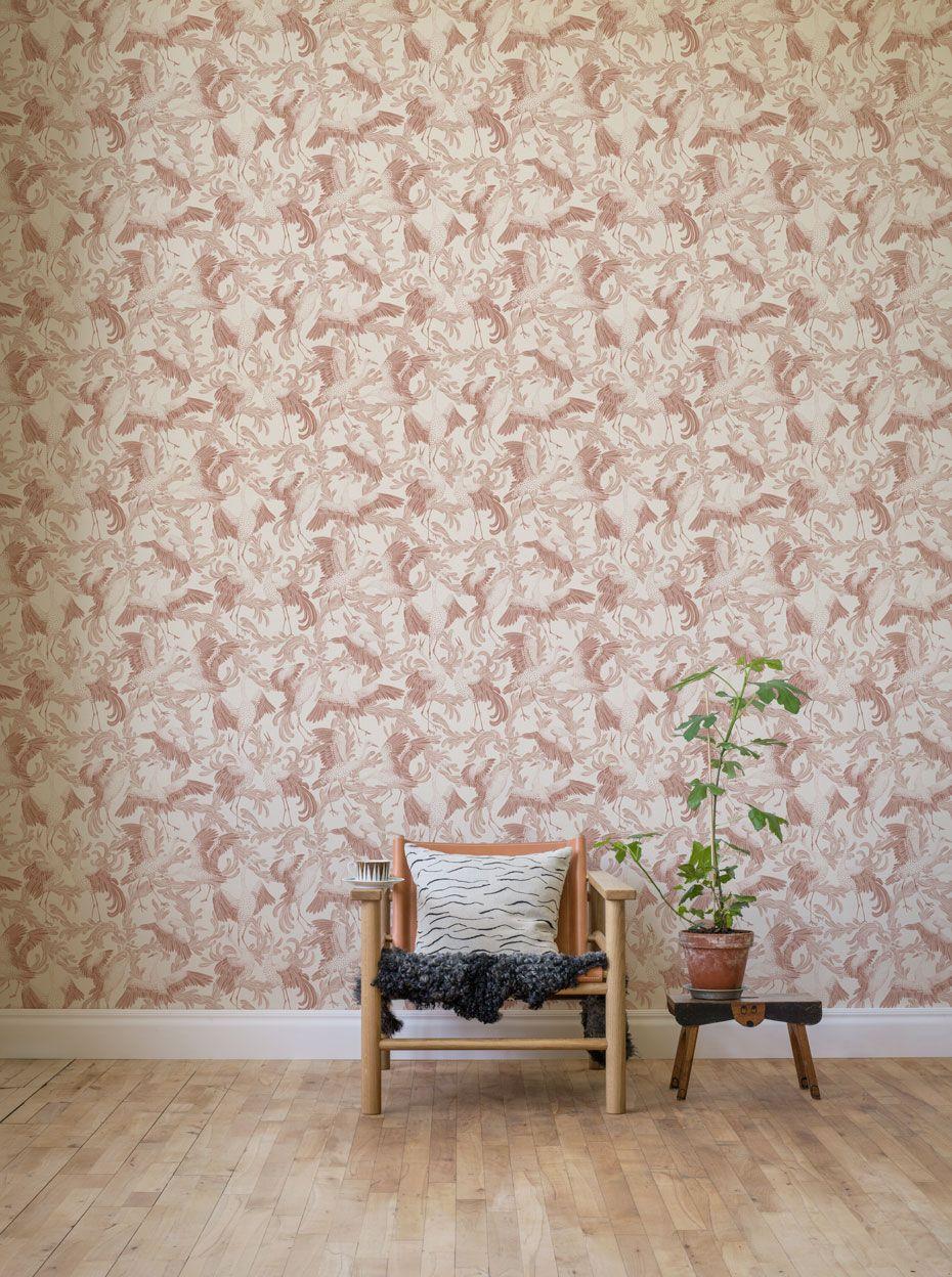 Inredning cover up tapet : Dancing Crane 3651 - Eco Simplicity - Eco Wallpaper | Mirja's ...