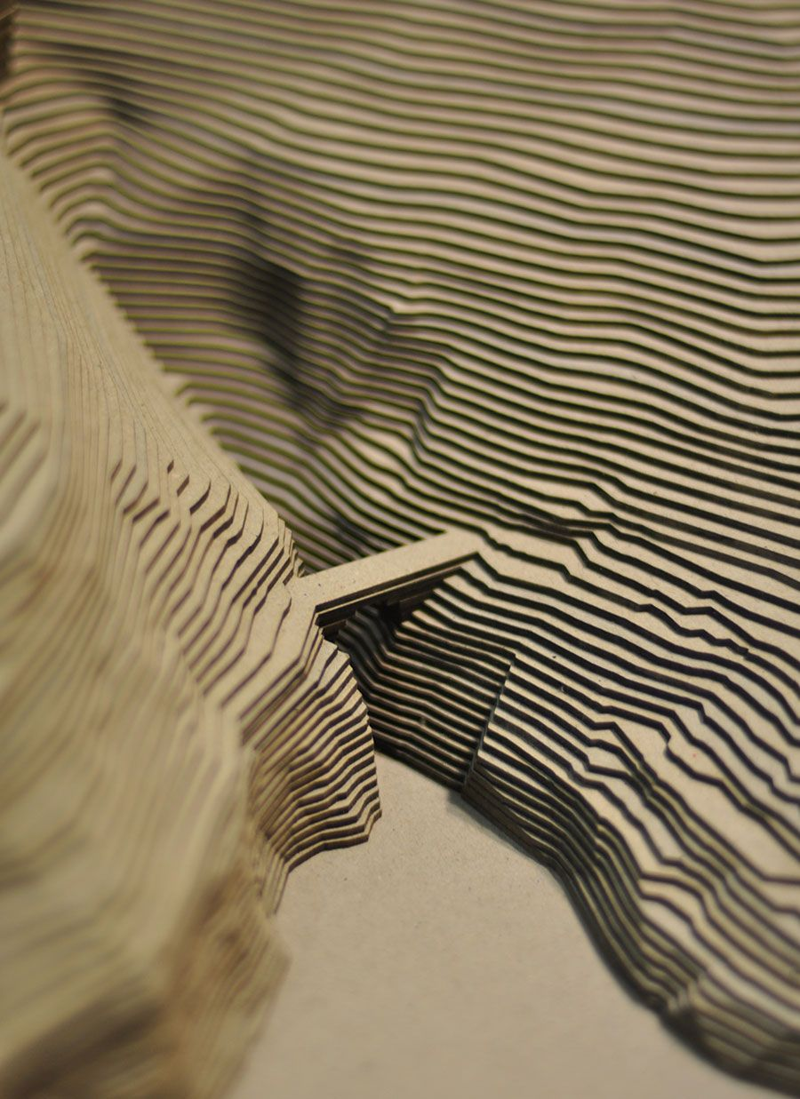 Maquette d 39 architecture en carton gris projets essayer for Maquette d architecture