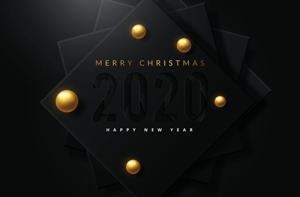 Happy New Year 2020 & Merry Christmas Images Merry