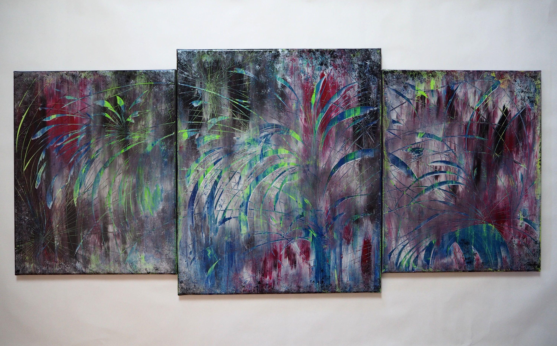 Original Abstraktes Bild Modernes Gemalde Acrylbild Abstrakt Blau