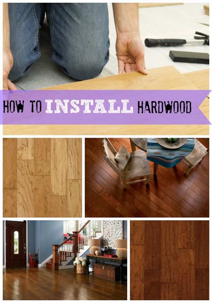 Installing hardwood CAN be a DIY project, for the slightly