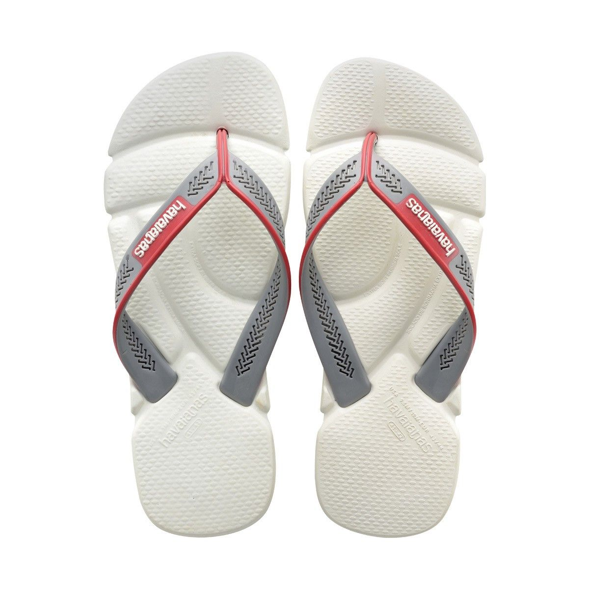 HAVAIANAS POWER SANDAL WHITE/GREY/RED. #havaianas #shoes #all