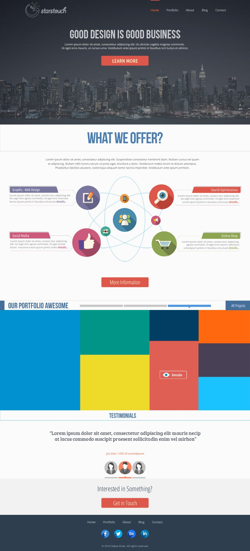 StarsTouch - Free Web PSD Template | W & M | Pinterest
