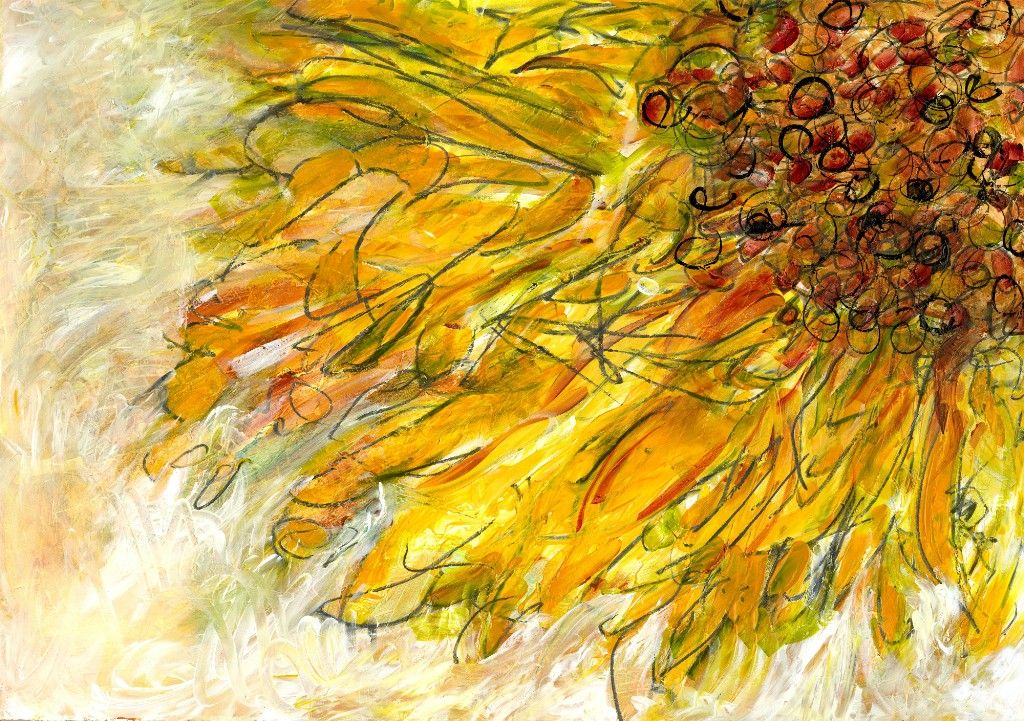sunflower abstract art abstract