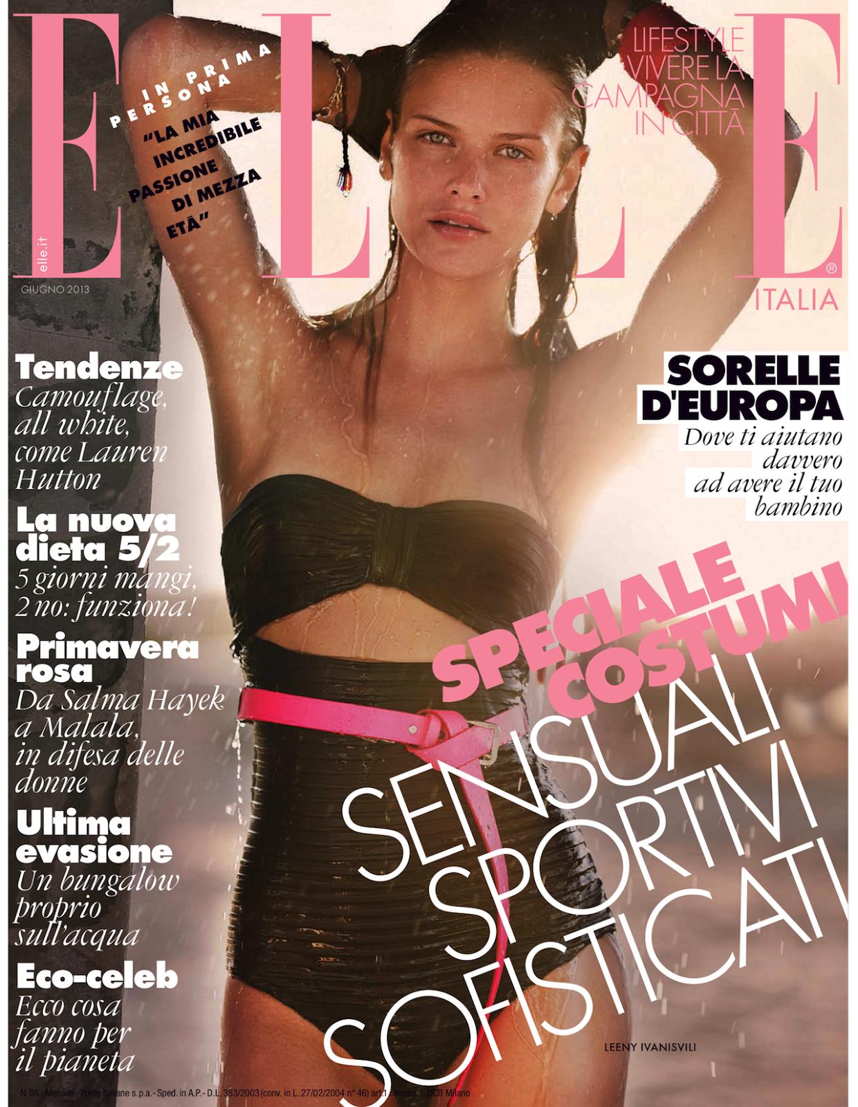 Elle Italia June 2013 : Keep On Movin'Elle Italia June 2013 issue :    Leeny Ivanisvili – model    Drew Jarrett – photographer