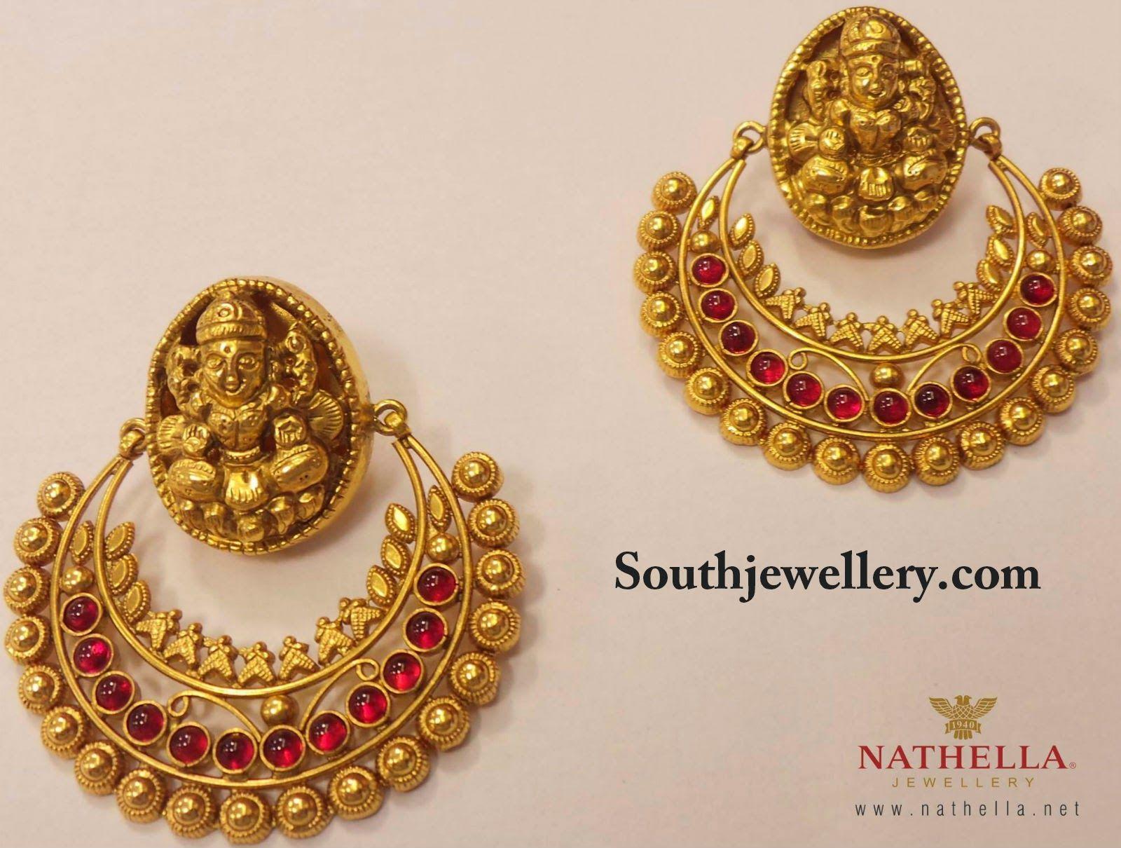 Traditional Lakshmi Earrings ~ Latest Jewellery Designs ...