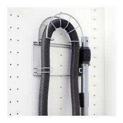 Staubsaugerschrank Ikea variera staubsaugerzubehörhalter silberfarben staubsauger