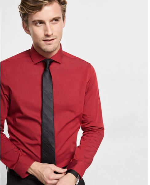 Express modern fit diamond textured dress shirt | Mens shirt