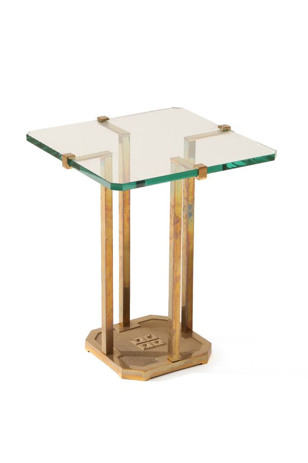 modern furniture table. Fine Furniture Lovely Brass And Glass Occasional Table By Peter Ghyczy  Red Modern  Furniture On Modern Furniture L