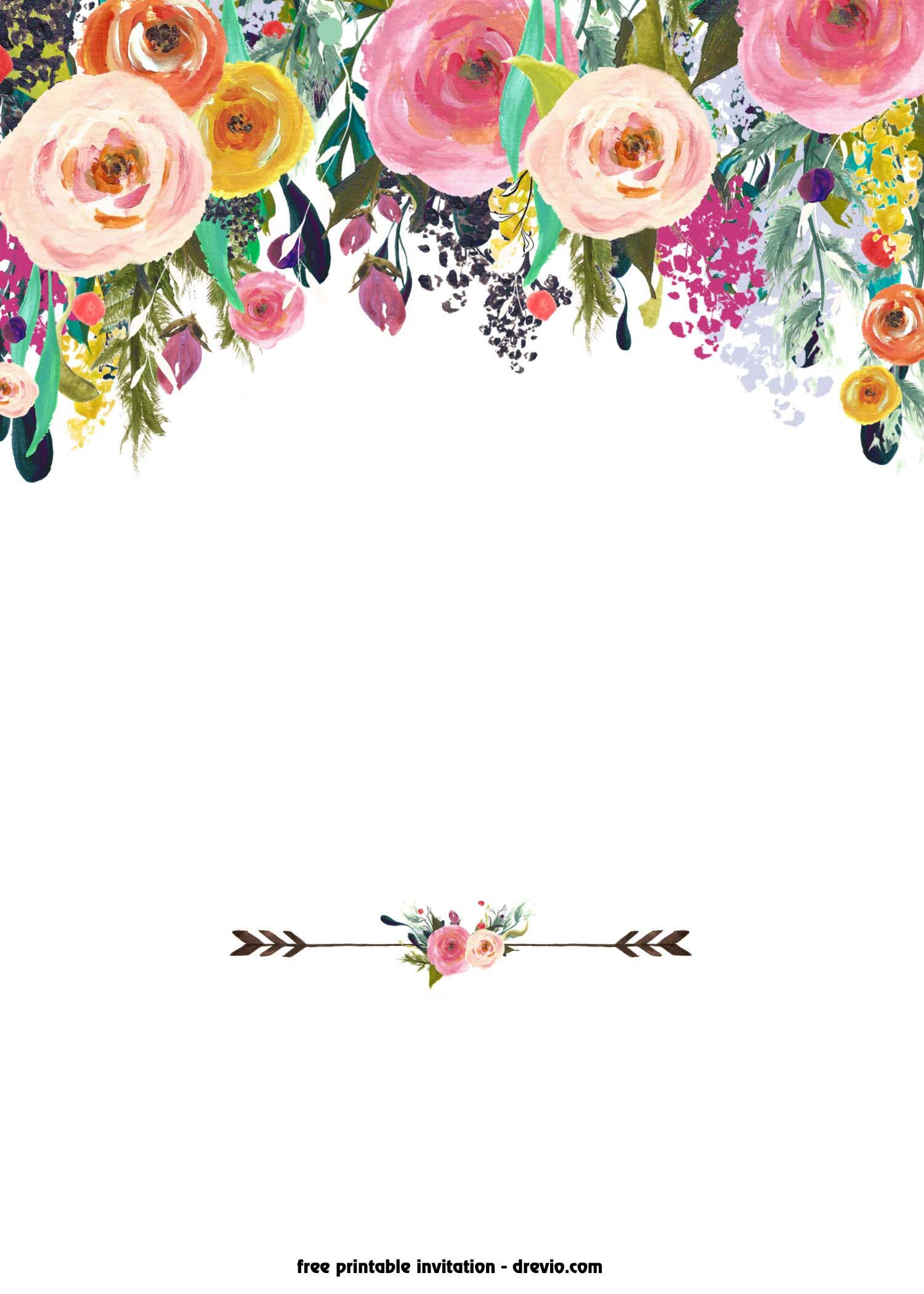 Download Now Free Printable Boho Chic Flower Baby Shower