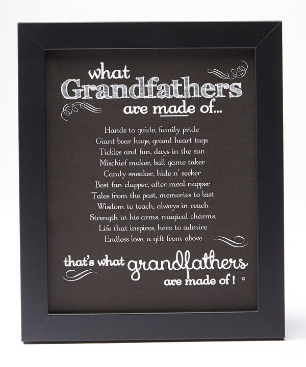 Look At This Grandparent Gift Company 'What Grandfathers