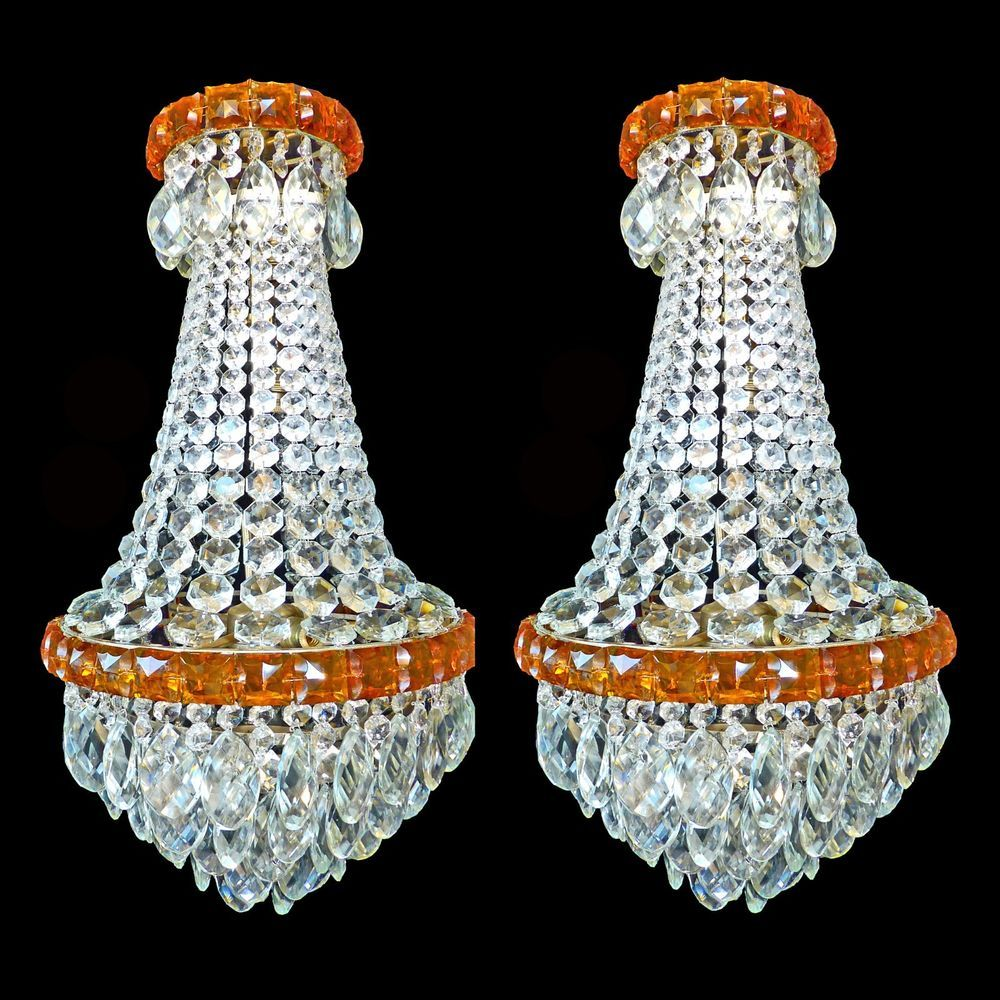 Antique stunning pair of french empire chandeliershuge rock antique stunning pair of french empire chandeliershuge rock crystal clearamber france mozeypictures Image collections