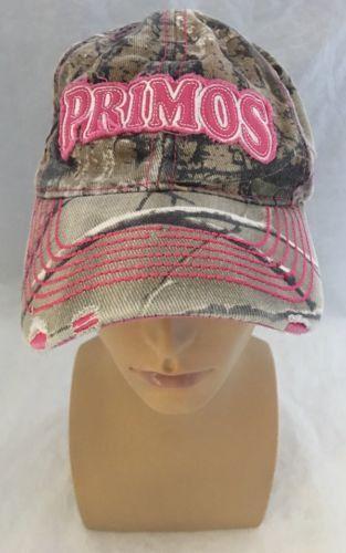 0124ae91207 Primos Hunting Ladies PINK Camo Cap Hat Distressed