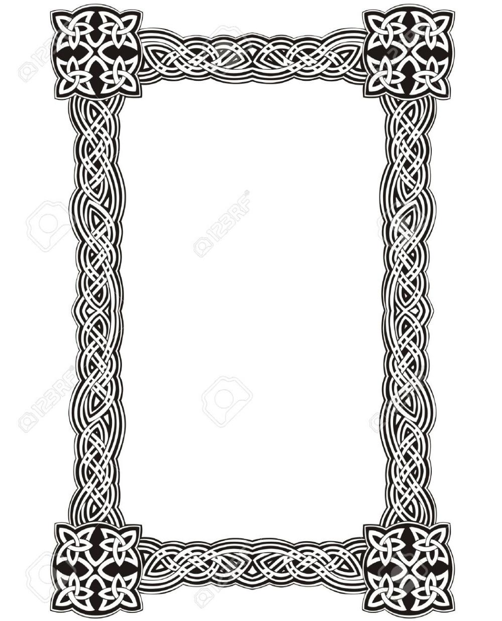 Celtic Decorative Knot Frame Black And White Celtic Border Celtic Designs Celtic