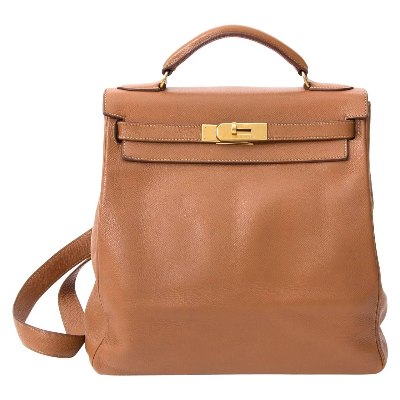 Hermès Kelly Brown Ado Backpack To Wear Pinterest