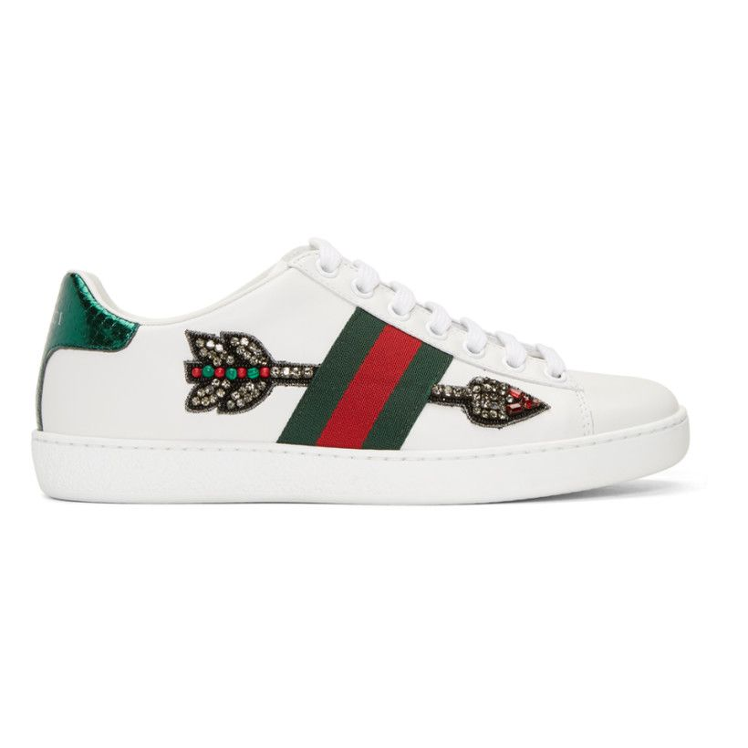 9ebecbde2a1 Gucci - White Bleeding Arrow Ace Sneakers