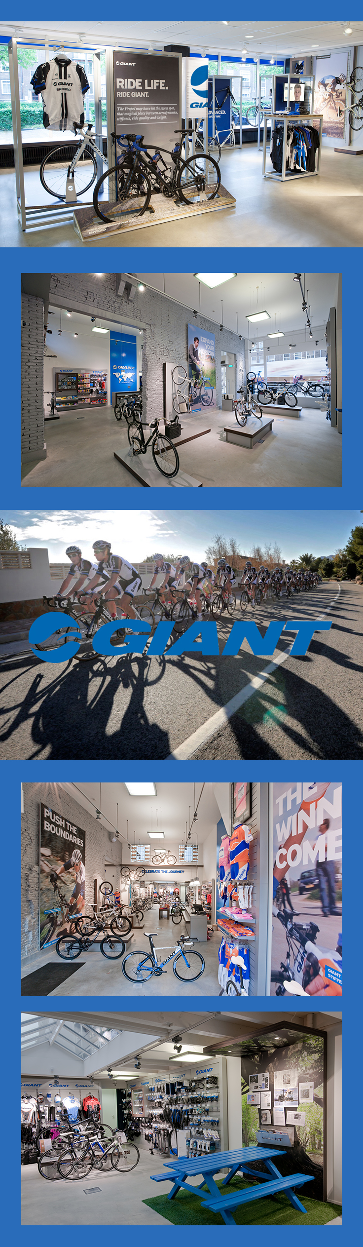 Giant bicycle store - Portfolio of Twan Minten #Retaildesign #Branding