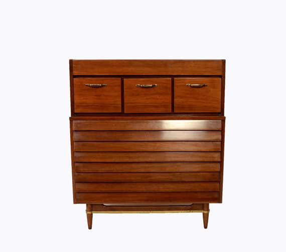 Best Walnut Tall Dresser American Of Martinsville Dania Line 640 x 480