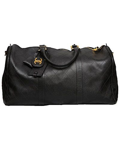 80c354533b68 Chanel Black Quilted Leather Large Duffel Bag | HANDBAGS IN THE CITY ...