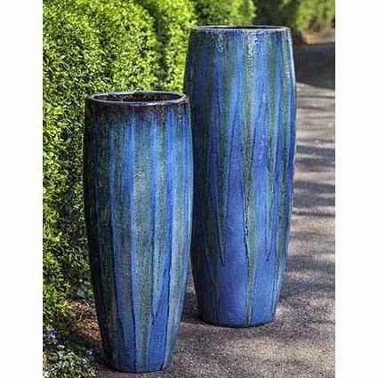 This Gorgeous And Statuesque Indoor Outdoor Planter Is Made Of High Quality Ceramic With A Rich Arti Tall Outdoor Planters Tall Planters Indoor Outdoor Planter