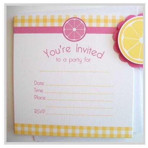 Pink Lemonade Invitations
