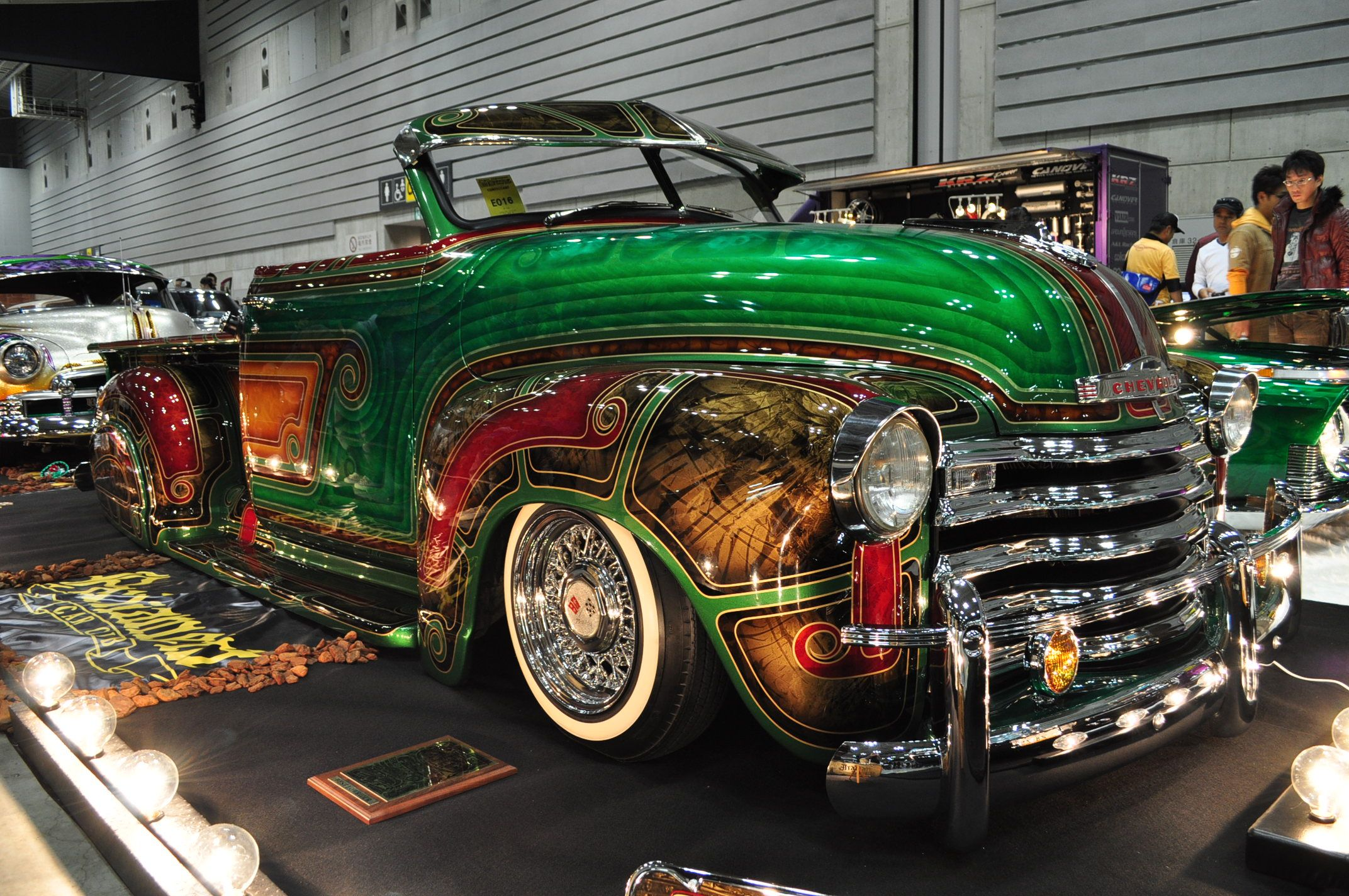 Chevy in japan with intricate paint job theyve embraced