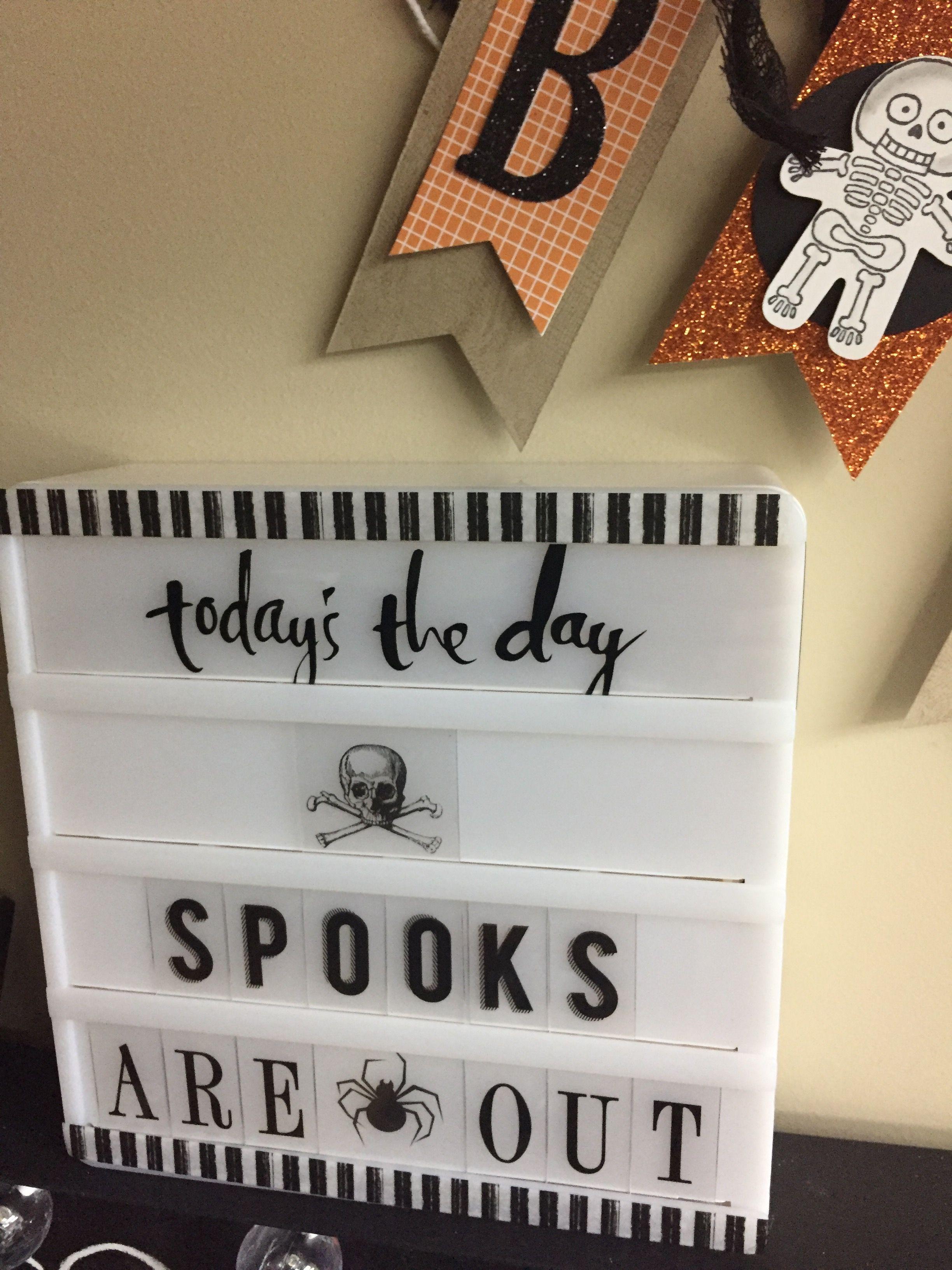 Hslightbox Halloween Mini Stampint Mini Lightbox Light Box Quotes Heidi Swapp Lightbox