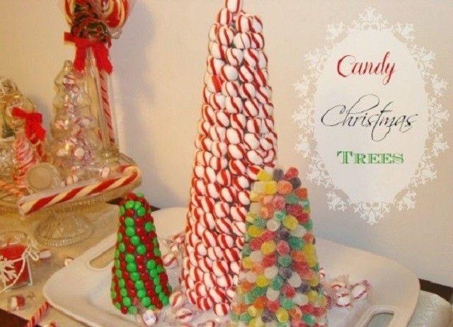 Árboles navideños de dulces   Ideas para Decoracion