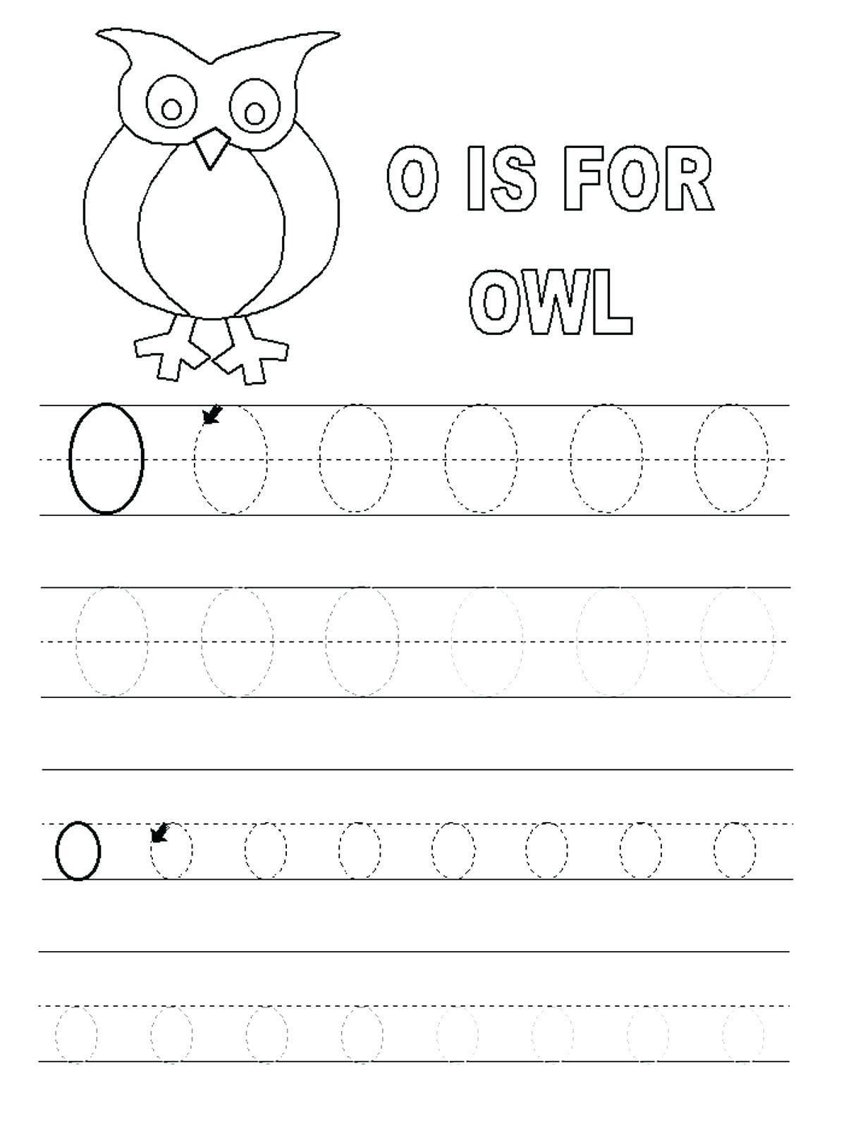 Letter O Worksheets For Toddlers In