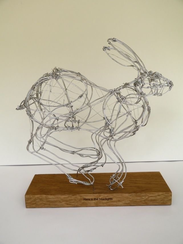Hare in the headlights. £82.00 | Wired for Art | Pinterest | Wire ...