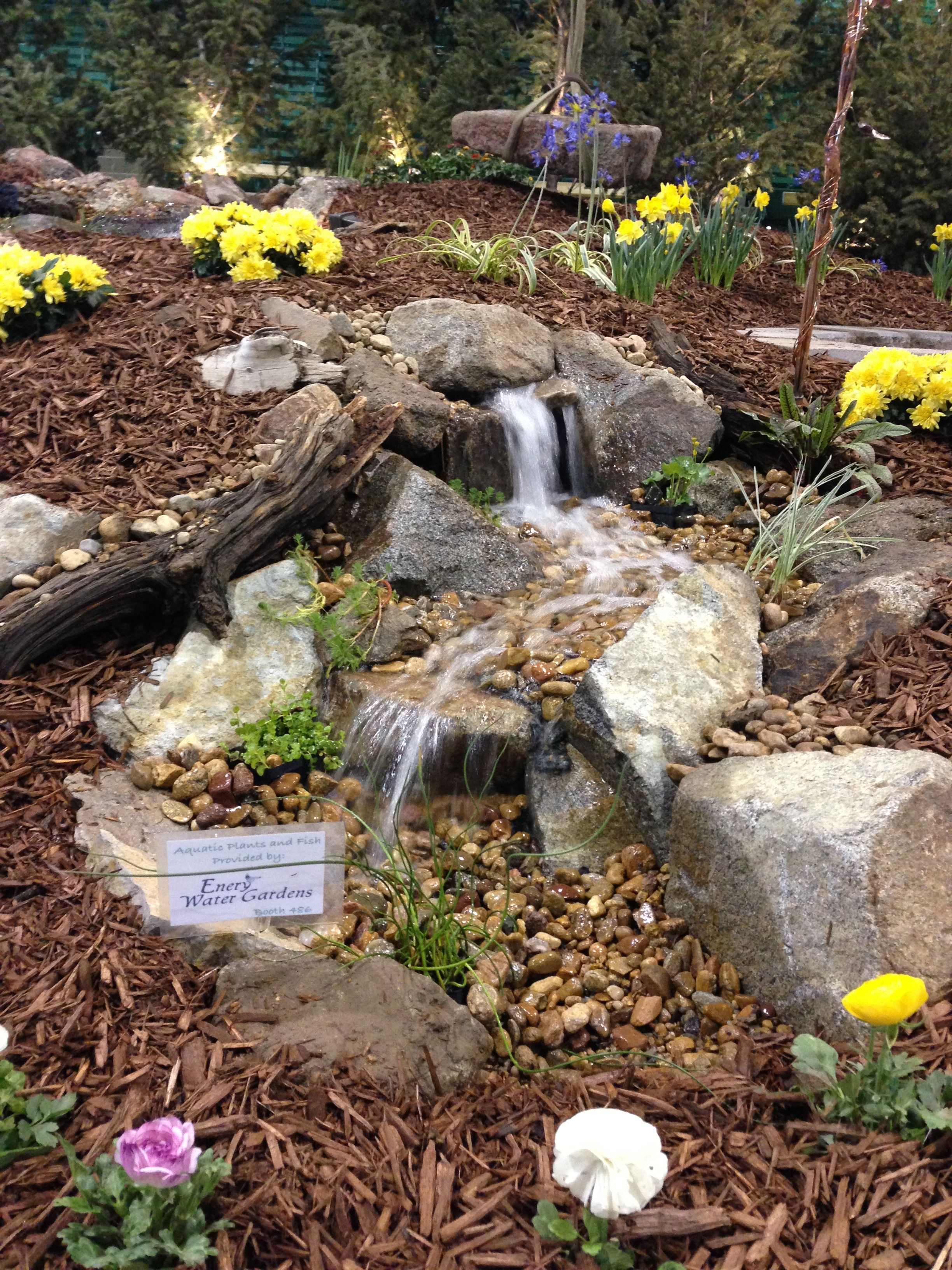 A 4 pondless waterfall will fit in the smallest yard