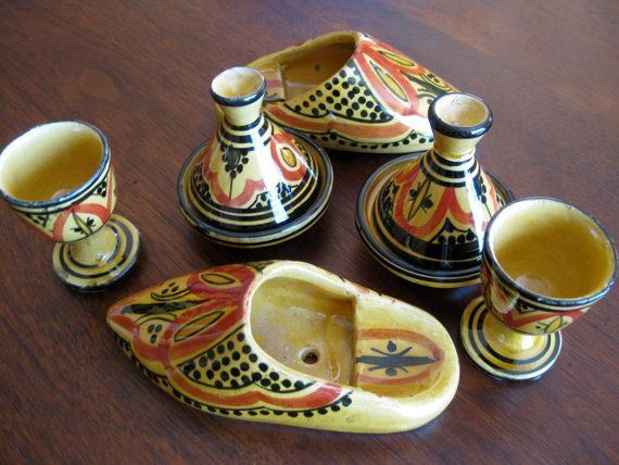 Tagine Spice Herb Serving Set Moroccan Tableware by chichat & Tagine Spice Herb Salt Pepper Serving Set Moroccan Tableware | Herbs ...